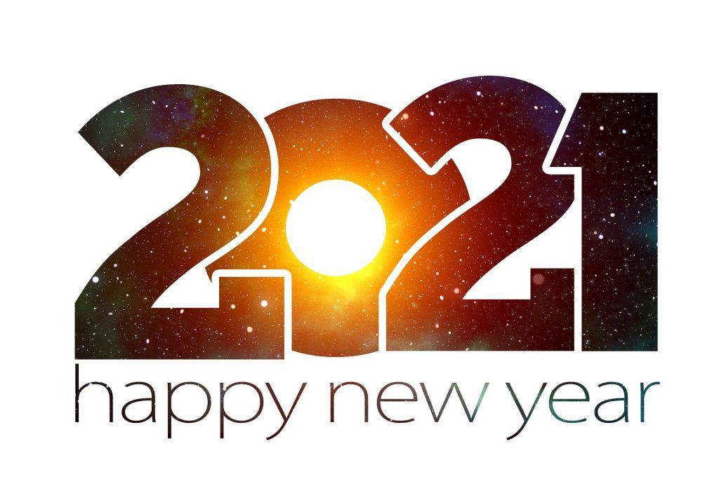 Weihnachtshäuser feiern das neues Jahr 2021 mit Weihnachts-Lichter.de
